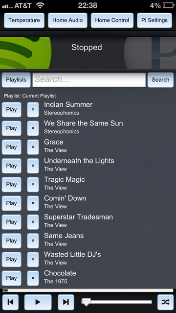 Spotify Player Interface